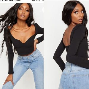 Pretty Little Thing Sweetheart Neck Crop Top